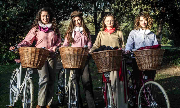 The Handlebards' all female troupe. Photograph: The Handlebards