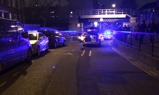 Stabbing: Police at Homerton station after knife attack