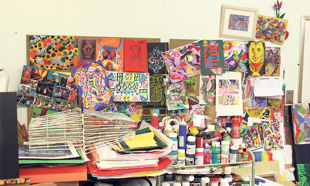 Therapeutic: a view of Homerton's art room