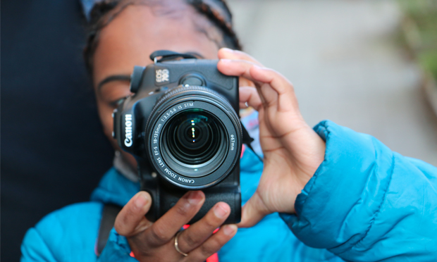 Snap happy: learning how to use film equipment with What's Your Story? Photograph: Immediate Theatre