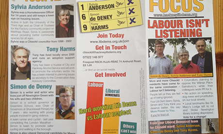 election leaflet Lib Dems