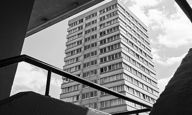 Lincoln Court: cladding failed safety standards. Photograph: Simon Phipps