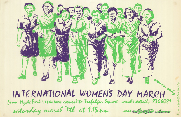 Womens Day Parade poster. Image: Lenthall Road Workshop