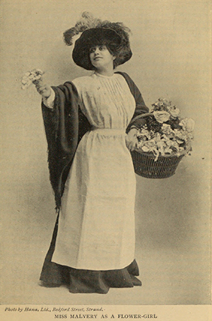 Olive Christian Malvery as a flower girl. Image: Hackney Museum