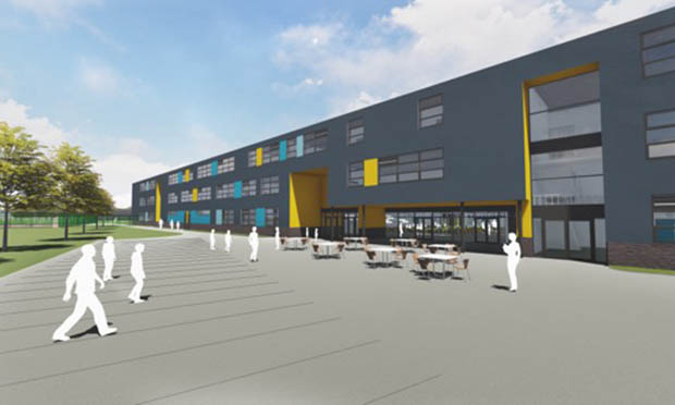An artist's impression of the Barclay Secondary Free School. Image: Lion Education Trust