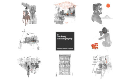 """Magical"": the splash screen of a hackney autobiography's website, with illustrations by Joanna Layla"
