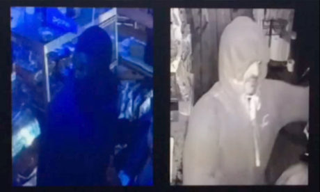 Hooded: the two suspects. Photograph: Metropolitan Police
