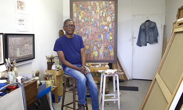 Paul in his studio.