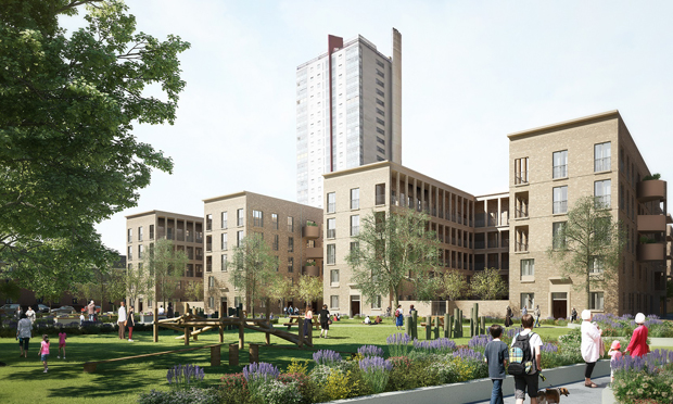 Another view of the future Nightingale Estate. Image credit: Hackney Council