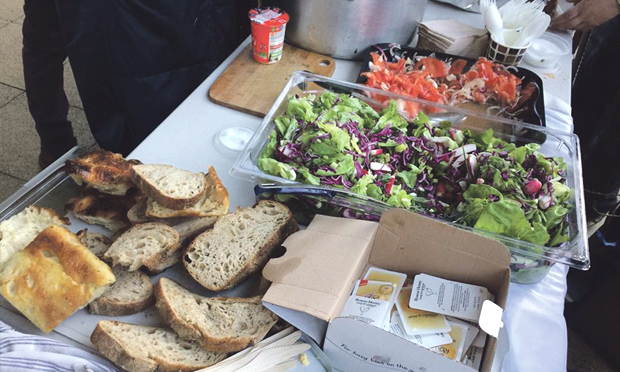 From bread and salads to hot dinner - all of RCK's food is free