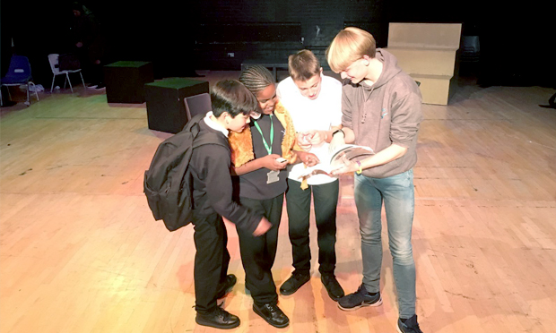 From page to stage: pupils of all ages work together to create their own version. Photograph: Stoke Newington School