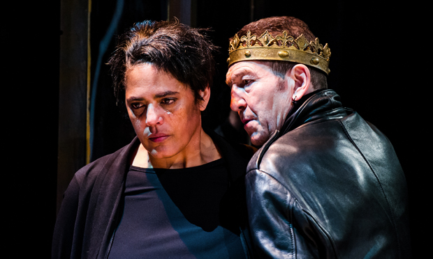 """Working class insouciance"": Greg Hicks and Sara Powell in Richard III. Photograph: Alex Brenner"