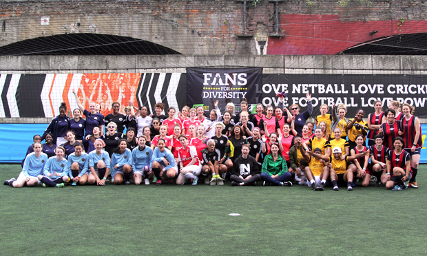Squad up: the 2016 line-up of teams contesting Paying For Kicks. Photograph: Romance FC
