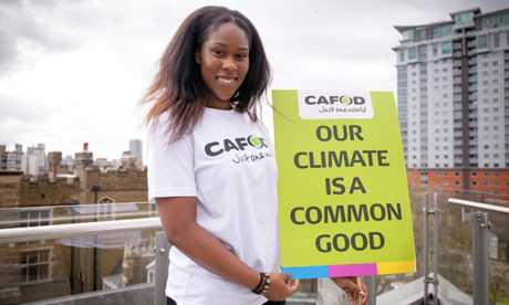 Pope-ular: Sandra Iheanacho will meet up with the Holy Father and other volunteers in Portugal. Photograph: CAFOD