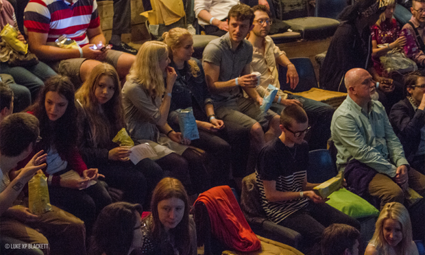 Shorts weather: a captive audience at last summer's event. Photograph: Luke Blackett