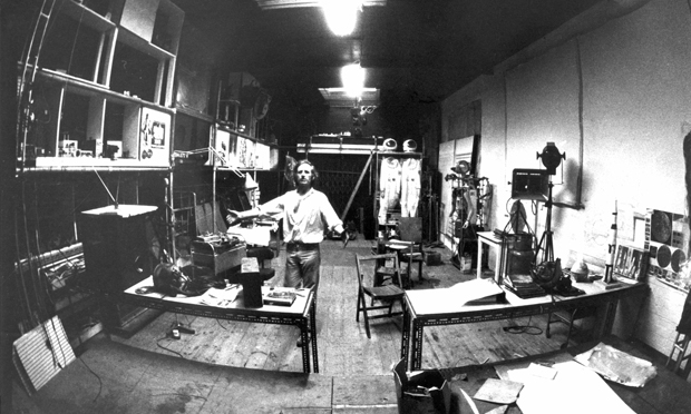 Art world: Bruce Lacey in his SPACE studio on Martello Street in the early 70s. Photograph: Ingeborg Sedgley