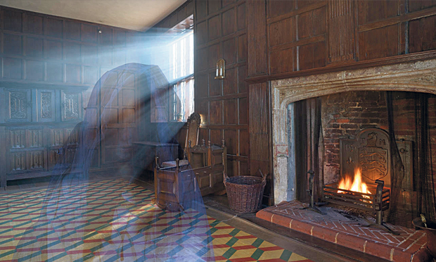 Are Sutton House's oak-panelled rooms teeming with ghosts? Photograph: National Trust, composite image: Hackney Citizen
