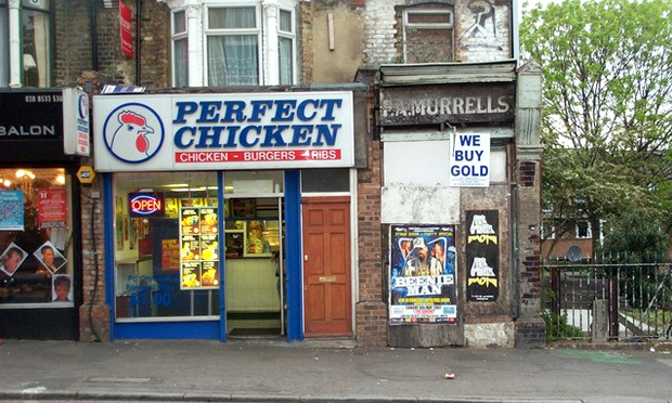 High fry: a chicken shop on Homerton High Street. Photograph: Wikimedia Commons