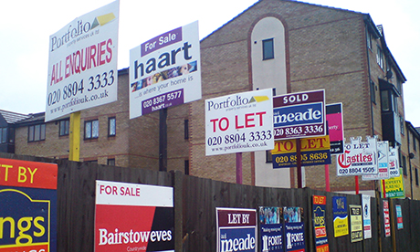 To let sign flats houses estate agent