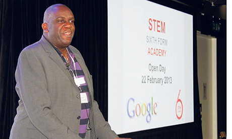 Dr Tony Sewell at the event held at Google's HQ in Bloomsbury