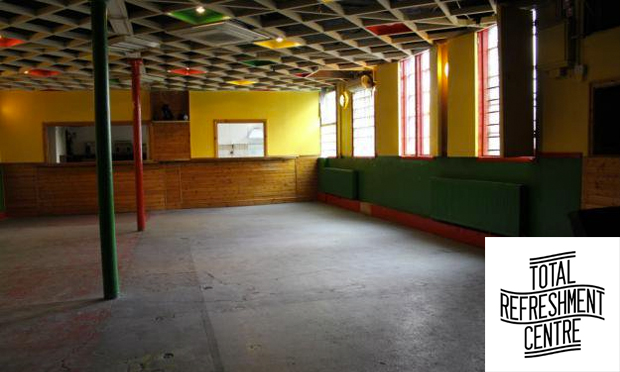 Empty: the main room at Total Refreshment Centre