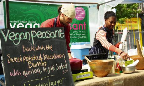 vegan peasant chatsworth road market