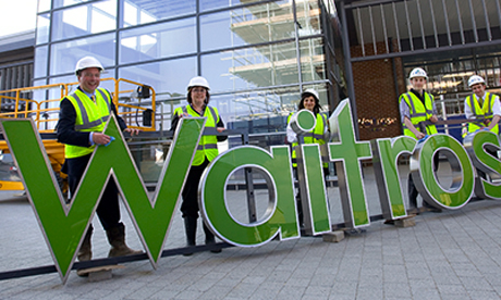 Aspirational: Waitrose says it 'aspires' to open a new store in Stoke Newington. This picture shows the opening of a new Waitrose in Oakgrove, Milton Keynes. Photograph: Waitrose/Facebook