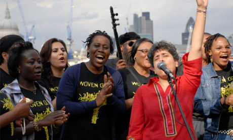 Fight fire with choir: refugee group Woven Gold. Photograph: Hackney Council